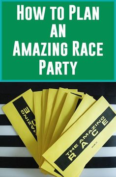 How to Plan an Amazing Race Party with ideas for clues and challenges  (and More Free Printables)