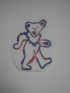 Grateful Dead  Bear Decal, Flower Decal, Hippie Decal, Deadhead Decal, Grateful Dead Bear by Adsforyou on Etsy Grateful Dead Bears, Guns And Roses, Free Text, Window Decals, Hippy, Lettering, Etsy, Handmade Gifts, Vintage