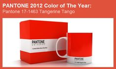 "Pantone rolled out its ""color of the year"" for 2012 yesterday, bestowing honors on ""Tangerine Tango."" The color, officially known as Pantone is a vibrant citrusy red and a big change from color of the year: Honeysuckle (aka Mad Men Pink). Tango, Pantone Universe, Pantone Color, Pantone Orange, Color Of The Year, Shades Of Black, Color Trends, Design Trends, Color Splash"
