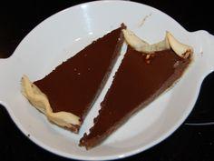 Tarte au chocolat noir - Recette de cuisine Marmiton : une recette