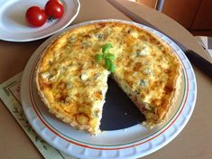 Slaný koláč Quiche Quiche, Mashed Potatoes, Pizza, Food And Drink, Keto, Bread, Breakfast, Ethnic Recipes, Kitchen