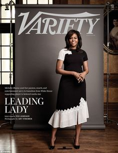 Leading lady: First Lady Michelle Obama appears on the cover of this month's Variety