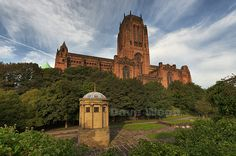 Liverpool Anglican Cathedral and William Huskisson Memorial,  St James' Cemetery