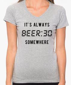 d3bd9435 It's Always Beer o'clock somewhere T shirt - Oktoberfest - Oktoberfest Shirt  - Funny Womens Oktoberfest Tshirt - Plus V neck Shirt