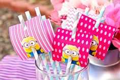 Pink Girl's Despicable Me Minions Birthday by PrettyLilPartiesLV, $79.00