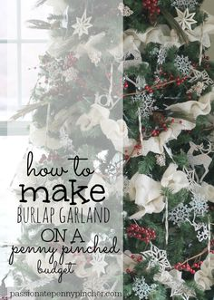 How to Make Burlap Garland (Includes Video)