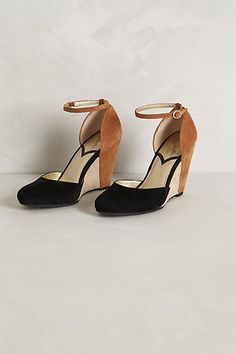Colorblocked Suede Wedges #anthropologie