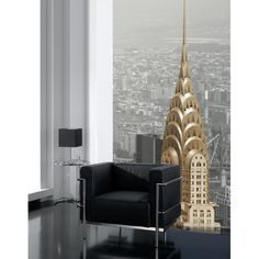 Goodrich Global supplies wallpapers and wallcoverings for home and office spaces in Singapore. We have feature wall designs as well. Feature Wall Design, Chrysler Building, Home Look, New Room, Wallpaper S, Wall Murals, Color Pop, Contemporary, Black And White