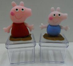 caixinha decorada peppa pig george pig  preço por unidade    caixa 4x4x4  frete por conta do cliente      produto artesanal sujeito a variações de cor e modelagem R$ 6,50