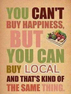 Buy local food!
