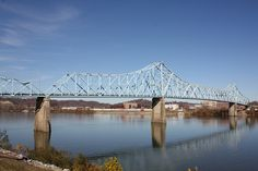 Ironton-Russell Bridge, Ohio River Don't forget to pray before crossing this rickety ol' bridge!