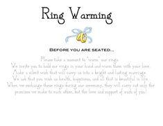 ring warming ceremony sign wedding diy ring warming ceremony unique paper frame sign ring ringwarm - Wedding Ring Ceremony