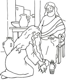 Sunday School Coloring Page The Wedding at Cana | Jan6 water into ...