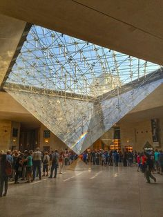Paris, France. The Gallery of the Louvre Museum with the reversed Pyramid. Photo by Pol Bacquet