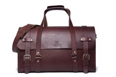 Men's Leather Duffle Bag Cabin Luggage Carry Lite
