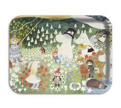 Moomin trays by lula