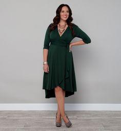 Kiyonna Winona Hi-Lo Wrap Dress $108 free shipping. http://girlwithcurves.com/post/35838093207/wrap-dress
