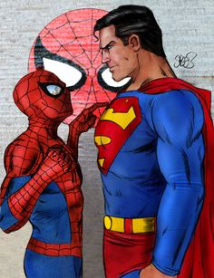 Just because Super-Man is bigger doesn't mean that he will defeat Spider-Man..... Spidey has more of the flexibility  :]