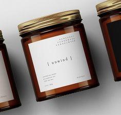 Custom Candle Labels Template — Candle Jar Editable Label Design — DIY Candle Sticker・Unwind