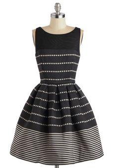 Promoting Elegance Dress in Black, #ModCloth