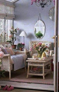 Shabby Chic Decor easy and creative tricks - Good looking decorating tricks to organize a pleasantly shabby shabby chic home decor rustic . The fantastic tips pinned on this imaginative day 20190626 , pin note ref 7873330272 Cottage Chic, Cottage Style Decor, Rustic Cottage, Cottage Porch, Romantic Cottage, French Cottage, Shabby Cottage, Porch Nook, Garden Cottage