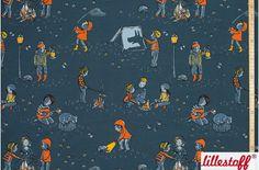 Bio-Stoffe - Lillestoff Bio Summersweat Nachtwanderung - ein Designerstück von Die-Stofftante bei DaWanda