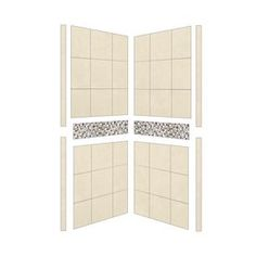 American Bath Factory Shower Wall Surround Side Panel (Common: 32-In;