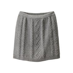Cable Skirt ($8.52) ❤ liked on Polyvore featuring skirts, bottoms, faldas, saias, cable knit skirts, wool skirt, embellished skirts and uniqlo
