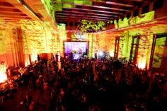 Video projection livens up a party with VIP tables in the Egyptian Ballroom at the Fox Theatre Atlanta.  http://foxtheatre.org/private-events/ Photo - Daniel Stancil Photography