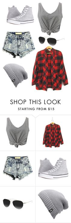 """Untitled #3"" by songird on Polyvore featuring WithChic, Converse, Barton Perreira and The North Face"
