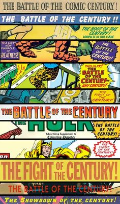 Comic Books & the Battle of the Century - Many comics make the claim, but most of those headlines are lying.