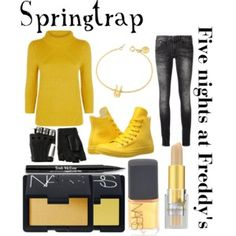 """Five nights at Freddy""""s inspired outfits #11 Toy Chica - Polyvore"""