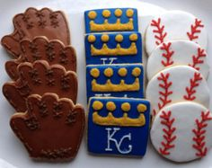 Kansas City Royals Cookies-Gluten, Dairy, Egg, Nut, Soy Free