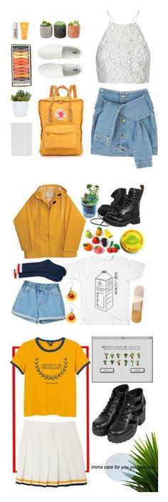 """Aesthetic AF"" by teadragon ❤ liked on Polyvore featuring Topshop, Fjällräven, Uniqlo, ASOS, philosophy, Shop Succulents, L:A Bruket, Dsquared2 and Monki"