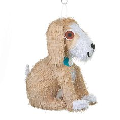 Puppy Pinata Includes (1) pinata. Weight (lbs) 0.57 Length (inches) 12.25 Width (inches) 8 Height(inches) 16.5