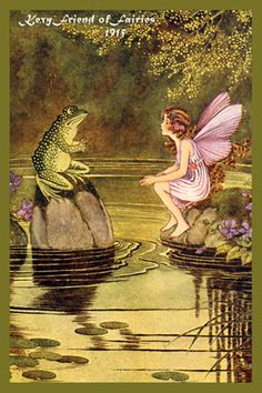 Fairy Quilt Block 1915 with a free pattern to make a quilted wall hanging.