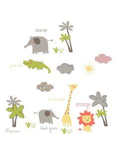 20 stickers avec 3 patres thme jungle party taupe vertbaudet enfant