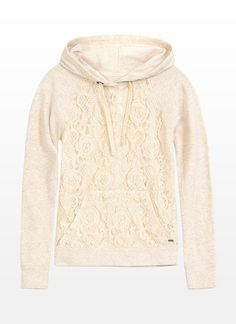 Lace Popover Hoodie - Hoodies & Fleece - Garage... Can't wait to get to shop again this is my new fave clothing!
