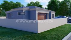 3 Bedroom House Plan – My Building Plans South Africa Round House Plans, Family House Plans, Village House Design, Village Houses, Single Storey House Plans, House Plans South Africa, Contemporary House Plans, Bedroom House Plans, Open Plan Living