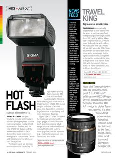 Travel King. Big Features. Smaller Size. Pop Photo takes a first look at the Tamron 18-270mm Di II VC PZD. http://tamron-usa.com/lenses/prod/assets/pdfs/popphoto_travelking_18-270pzd.pdf