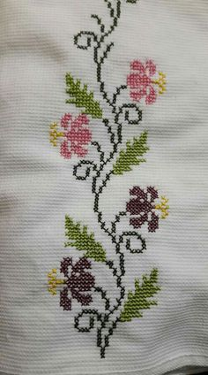 Cross Stitch Bird, Cross Stitch Borders, Cross Stitch Flowers, Cross Stitch Designs, Cross Stitch Patterns, Embroidery Neck Designs, Ribbon Embroidery, Cross Stitch Embroidery, Embroidery Patterns