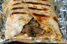 Campfire Quesadillas - good party food for   teens or family reunion. Everyone can assemble their own, label the foil, and   then throw it on the grill