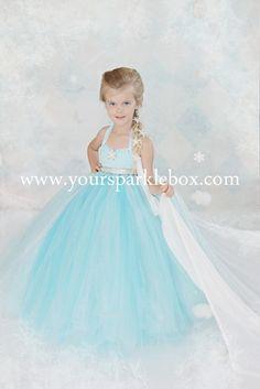 Queen Elsa Tutu Dress Costume by YourSparkleBox