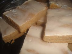 CARAMEL SHORTBREAD BARS * optional GLAZE ** with sugar or sugar-free ** rich with butter and brown sugar (or brown sugar Splenda) ** very fast & easy **