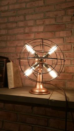 How cool is this upcycled fan lamp?