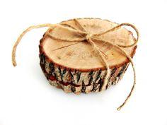 podkładki drewniane 2 szt, plastry drewna - SkandiDekor - Podkładki i serwetki, wooden pad, tree stump