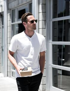 Meet Ace | Matt Bauer, Creative Director in Venice, CA, wearing the Smith Short Sleeve and Jackson Chino | Kit and Ace