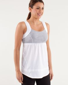 RUN: Chase Me Tank. I used to be a cool racer back girl, but this is my new favorite.  Perfect for running and Pilates!