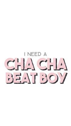 I Need a Cha Cha Beat Boy kpop lockscreen wallpaper