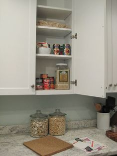 cork-board in cabinets